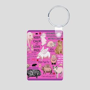 Pigs Aluminum Photo Keychain Keychains