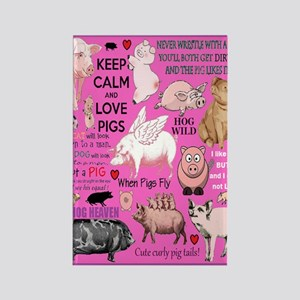 Pigs Rectangle Magnet Magnets