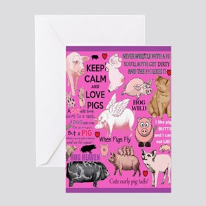 Pigs Card Greeting Cards