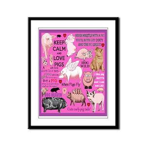 Pigs Framed Panel Print
