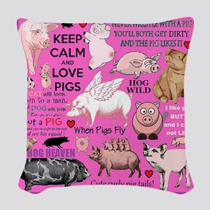 Pigs Woven Throw Pillow