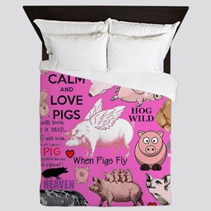 Pigs Queen Duvet