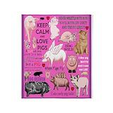 Pig Fleece Blankets