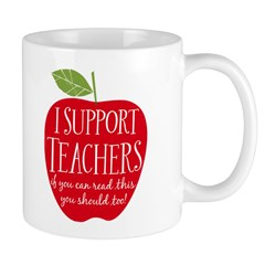 I Support Teachers Mug