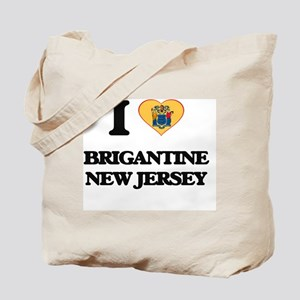 I love Brigantine New Jersey Tote Bag