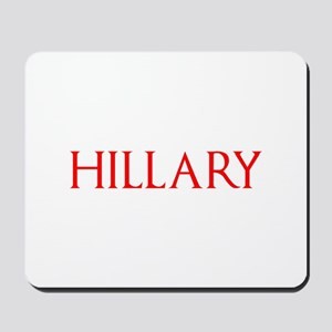 Hillary-Gam red 400 Mousepad