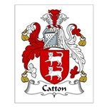 Catton Family Crest Small Poster