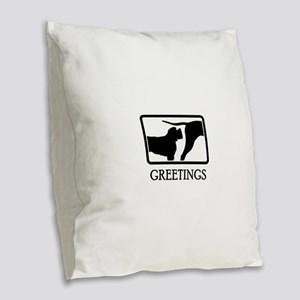 Wirehaired Pointing Griffon Burlap Throw Pillow