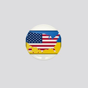 Ukrainian-American Mini Button