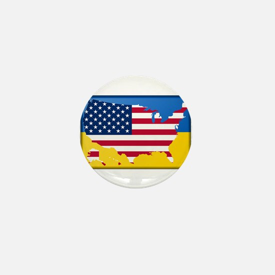 Ukrainian-American Mini Button