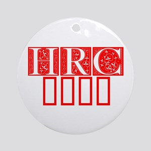 HRC 2016-Fle red 470 Ornament (Round)