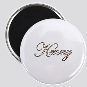 Gold Kenny Magnet