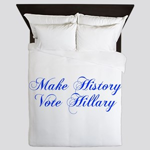 Make History Vote Hillary-Cho blue 300 Queen Duvet