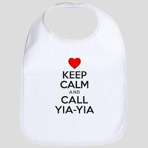 Keep Calm Call Yia-Yia Bib