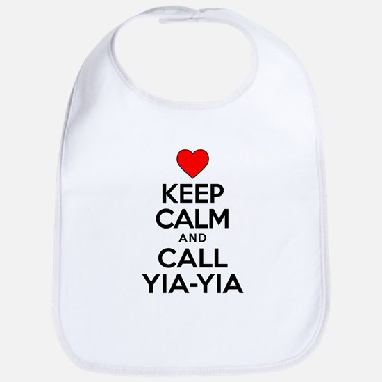 Keep Calm Call Yia-Yia Bib