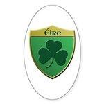 Ireland Shamrock Shield Sticker