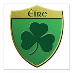 Ireland Shamrock Shield Square Car Magnet 3