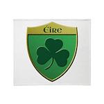 Ireland Shamrock Shield Throw Blanket