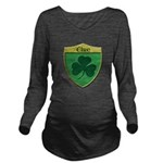 Ireland Shamrock Shield Long Sleeve Maternity T-Sh