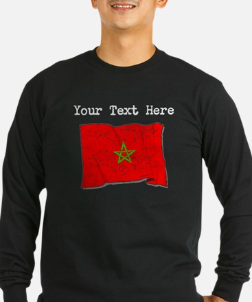 Morocco Flag (Distressed) Long Sleeve T-Shirt