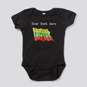Lithuania Flag (Distressed) Baby Bodysuit