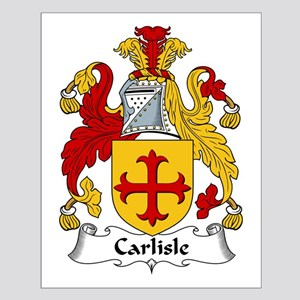 Carlisle Family Crest Small Poster