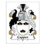 Capper Family Crest Small Poster
