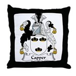 Capper Family Crest Throw Pillow
