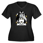Capper Family Crest Women's Plus Size V-Neck Dark
