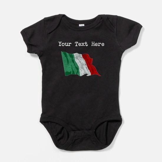 Italy Flag (Distressed) Baby Bodysuit