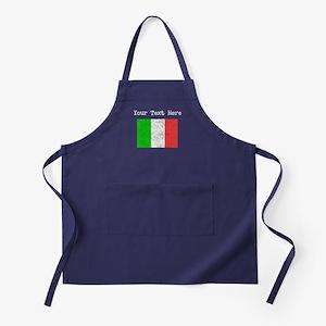 Italy Flag (Distressed) Apron (dark)