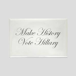Make History Vote Hillary-Edw gray 470 Magnets