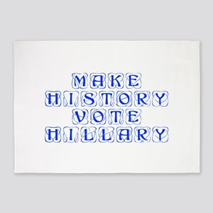 Make History Vote Hillary-Kon blue 460 5'x7'Area R