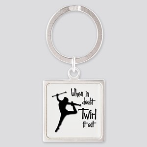 TWIRL IT OUT Square Keychain