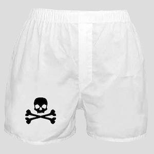 Skull Crossbones Black Boxer Shorts