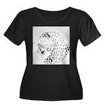 Cheetah Great Cat Women's Plus Size Scoop Neck Dar