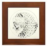 Cheetah Great Cat Framed Tile