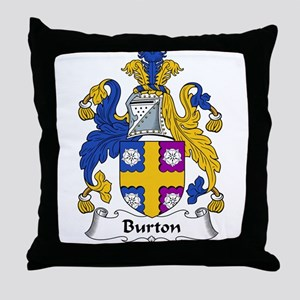 Burton Family Crest  Throw Pillow