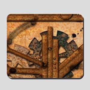 Rusty metal pipes Mousepad