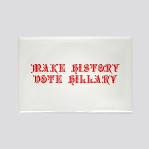 Make History Vote Hillary-Pre red 550 Magnets
