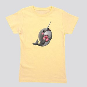 Cute Narwhal with Donut T-Shirt