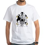 Burr Family Crest White T-Shirt