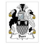 Burr Family Crest Small Poster
