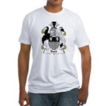 Burr Family Crest Fitted T-Shirt