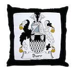 Burr Family Crest Throw Pillow