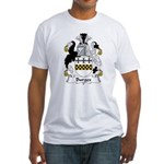 Burges Family Crest  Fitted T-Shirt
