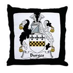 Burges Family Crest  Throw Pillow