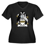 Burges Family Crest  Women's Plus Size V-Neck Dark