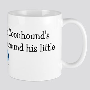 Wrapped Around His Paw (BT Coonhound) Mug