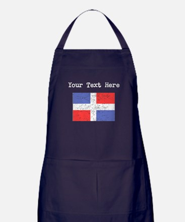 Dominican Republic Flag (Distressed) Apron (dark)
